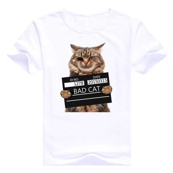 I've Been a Bad Cat Pawlice Mugshot Men's T-Shirt