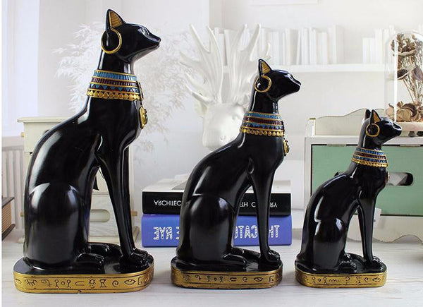 Welcome to My Purramid Egyptian Cat Statuettes