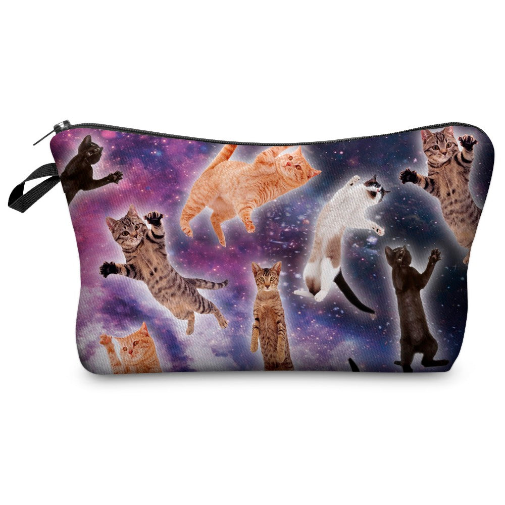 I Knead My Space Cat Makeup Bag