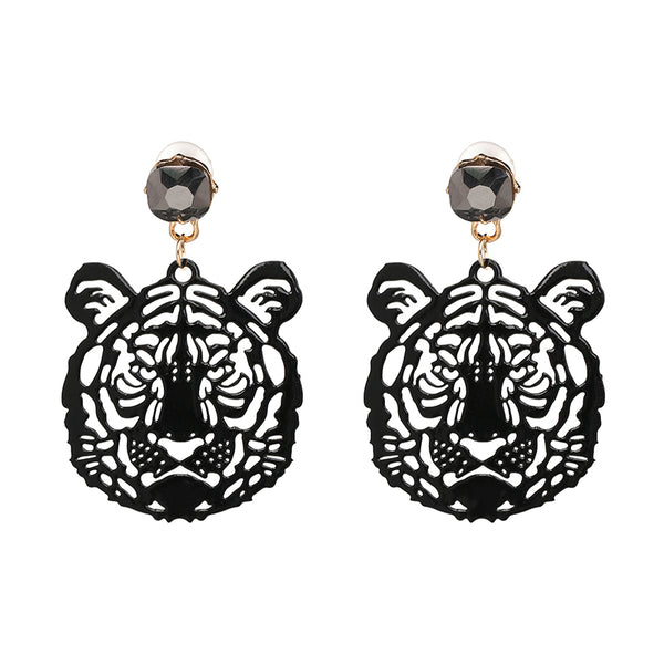 Hear Me Roar Mini Tiger Vintage Earrings