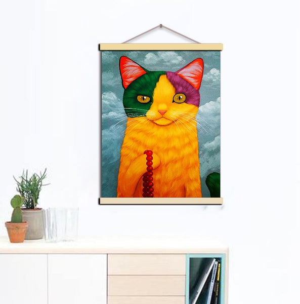 Colors of Nordic Cat Love Poster Print