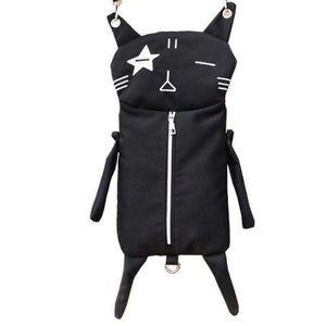 Show Me Some Purrsonality Blackcat Crossbody Canvas Bag
