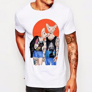 Cattoo Sphynx in Love Men's T-Shirt