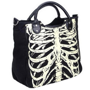 Tickle My Ribs Glow-in-the-Dark Skeleton Shoulder Bag