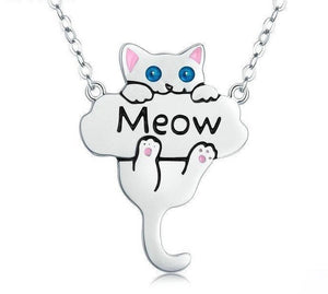 Wear Meow Real Silver Cat Necklace