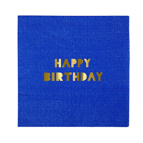 happy birthday party napkins in bright colors