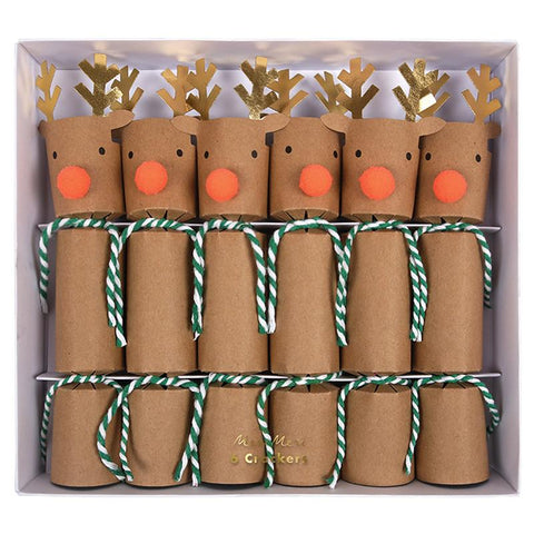 paper reindeer holiday crackers