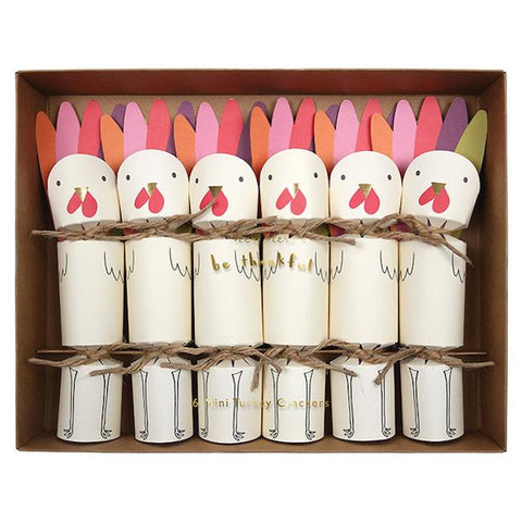 paper turkey party crackers