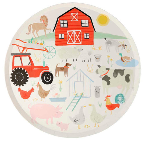 on the farm party plates