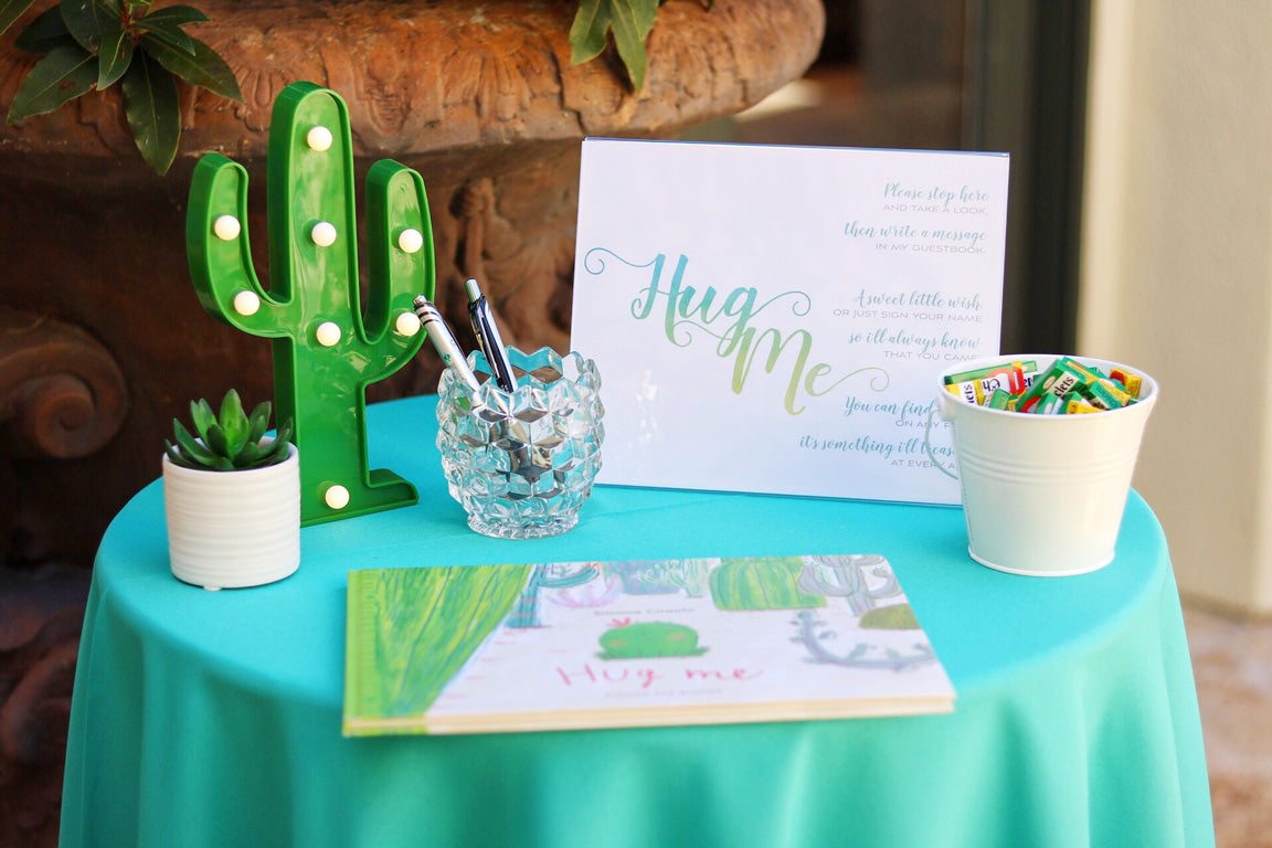Cactus baby shower guestbook