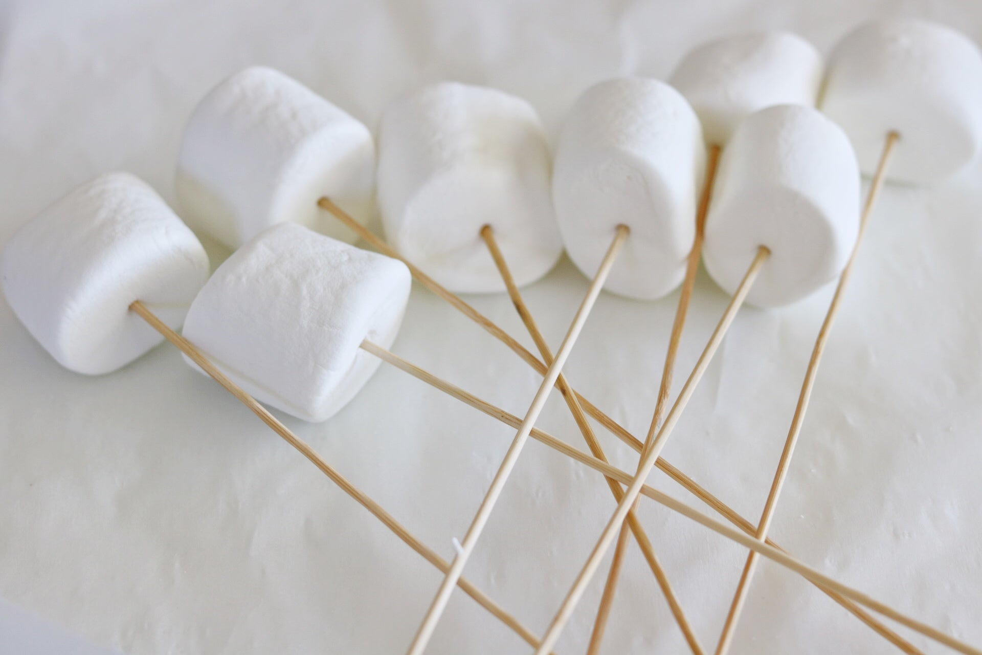 marshmallows on a screwer