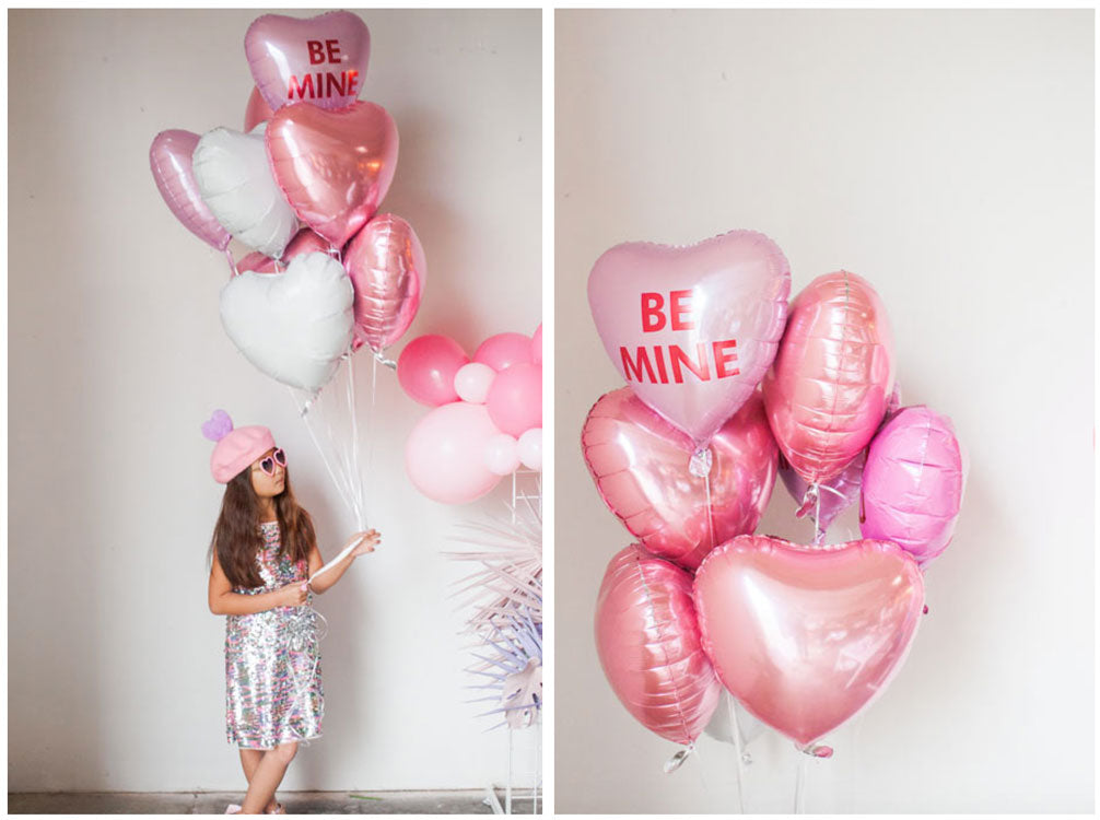 Valentine's Day picture with heart balloons