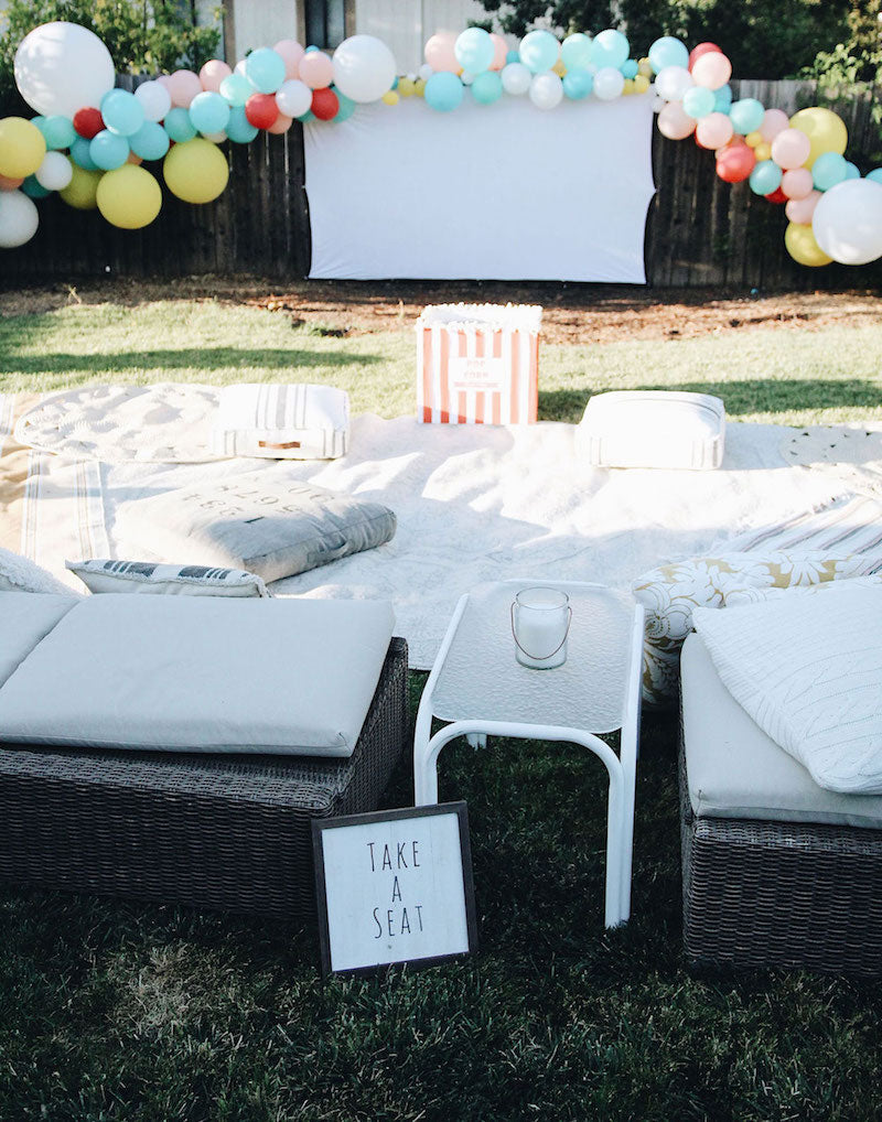 backyard movie night birthday party