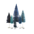 Blue Christmas bottle brush trees
