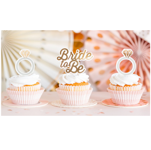 Bride-to-Be Cupcake Toppers