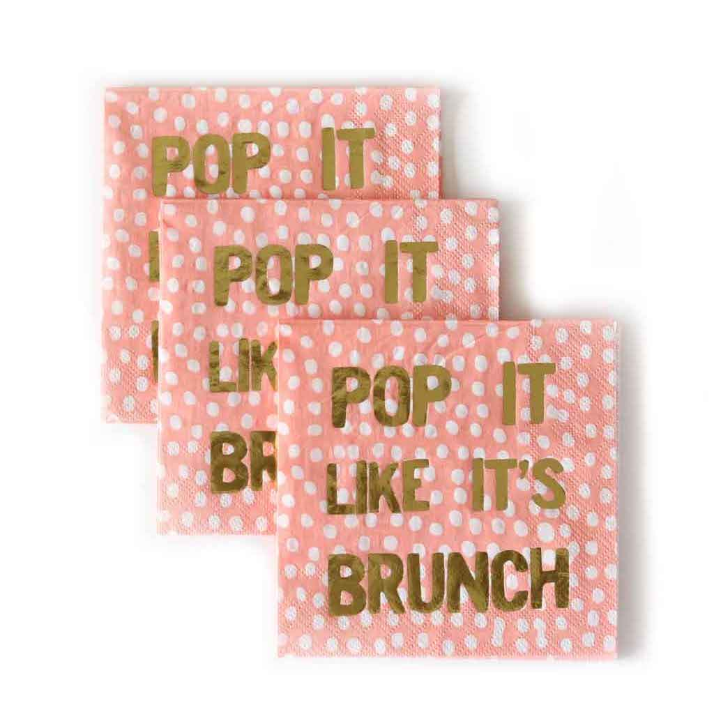 Peach Colored Brunch Party Napkins