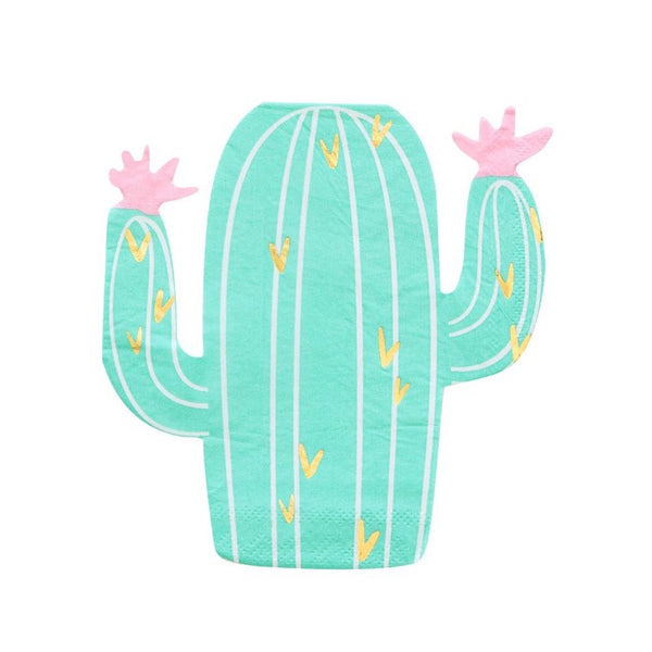 Green Cactus Fiesta Party Napkins