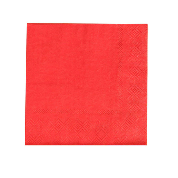 paper cherry red napkins