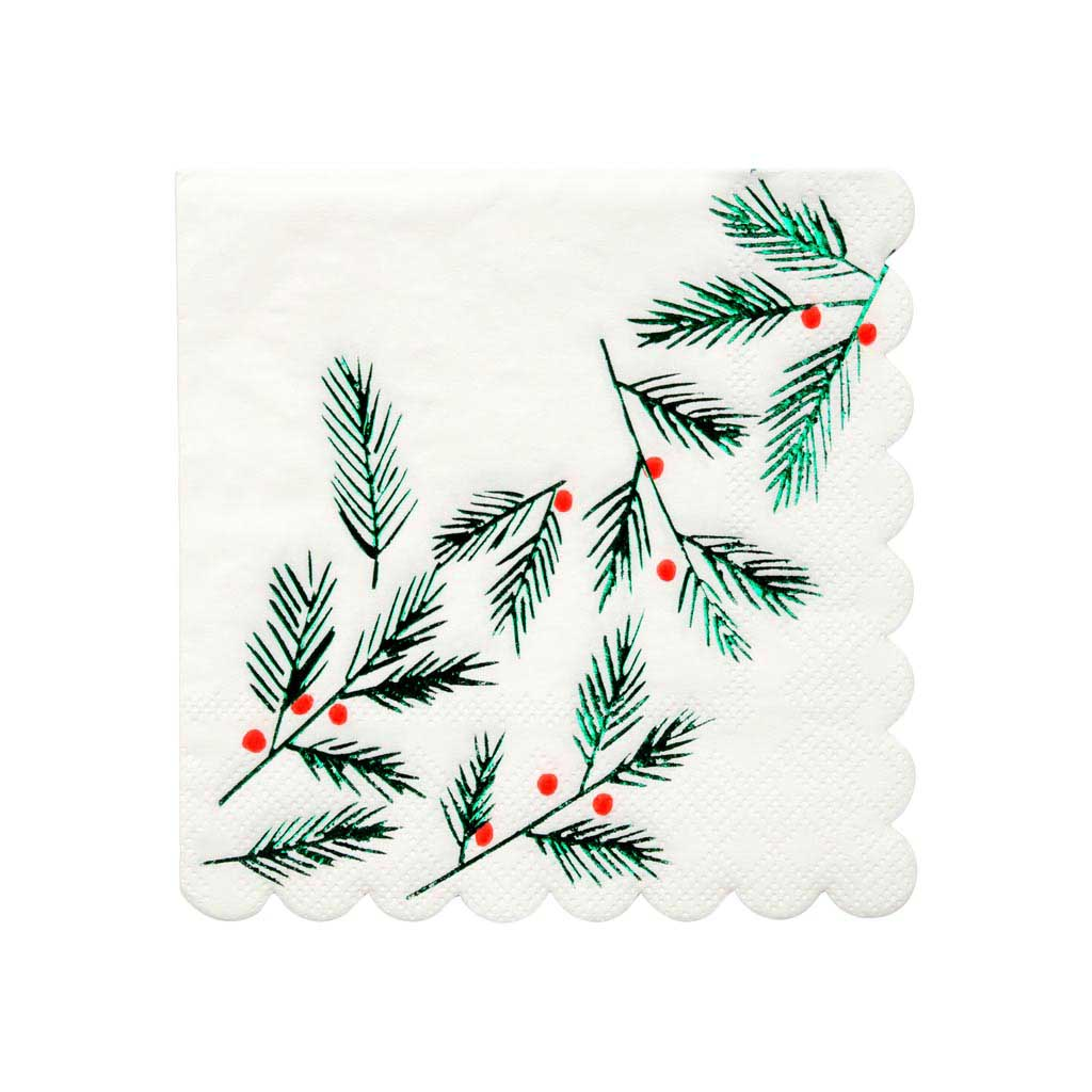 Festive Leaves & Berries Napkins