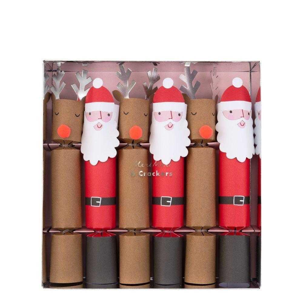 Christmas Crackers with Santa Clause and Reindeer
