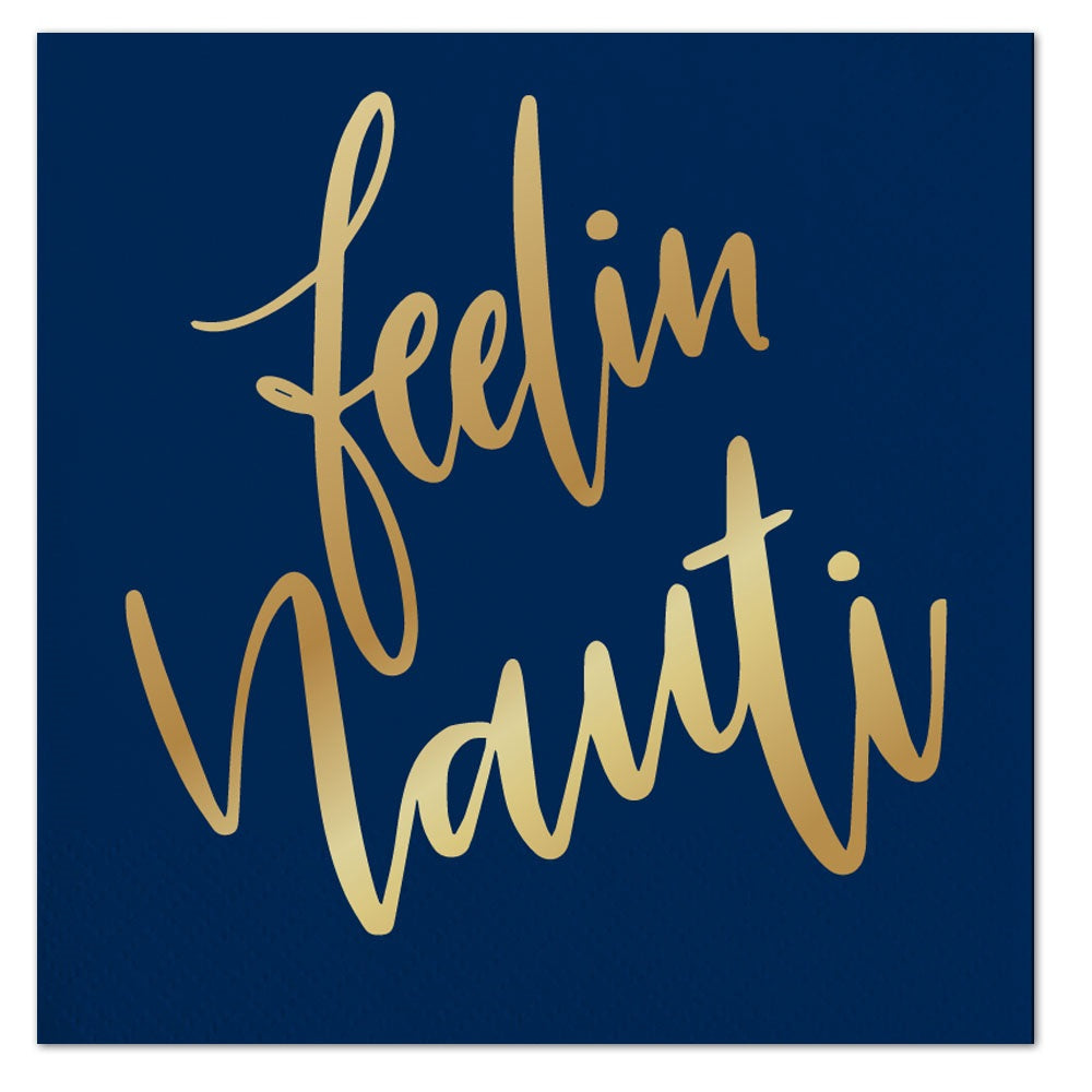 navy blue feelin nauti napkins