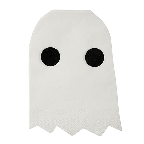 white ghost napkins with black eyes