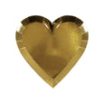 unique gold heart plates design with shiny gold foil