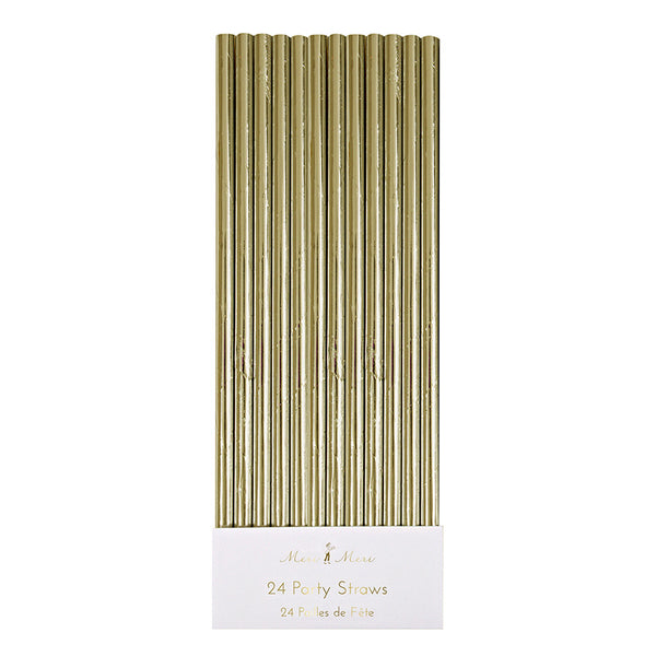 a pack of gold paper straws