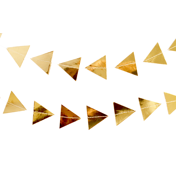 gold foil triangle party garland