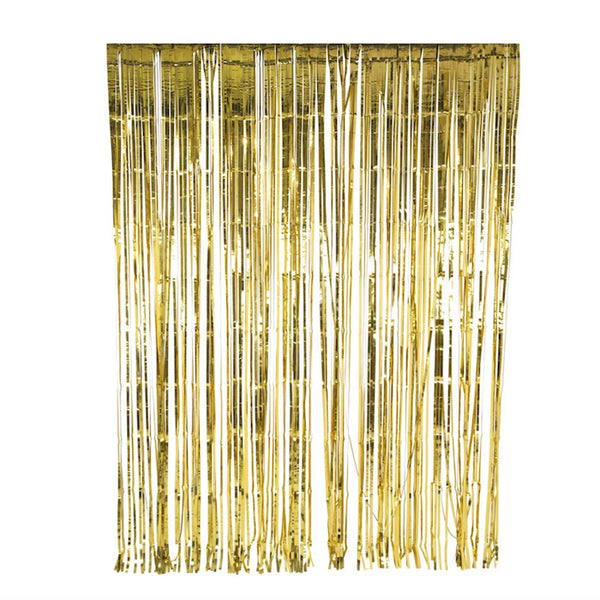Shimmering Gold Fringe Backdrop