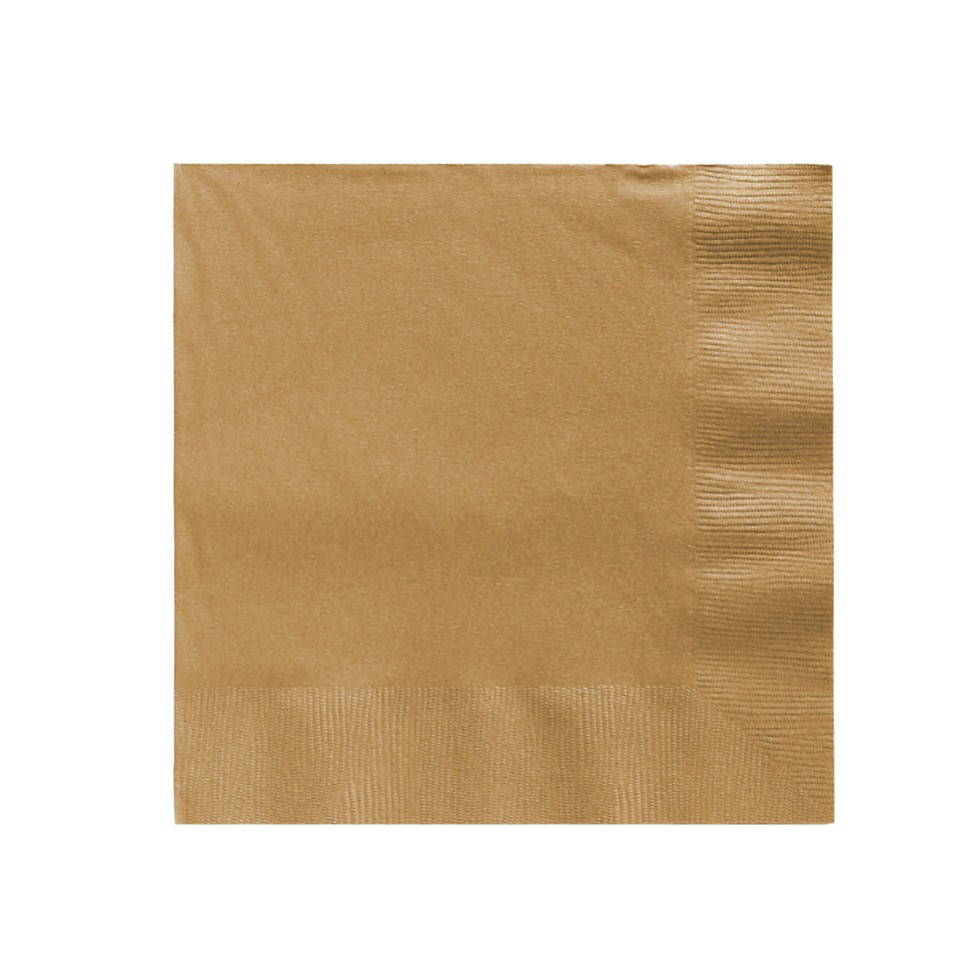 gold paper party napkins
