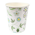 white and green party cup
