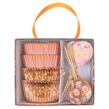 rose gold skull cupcake kit