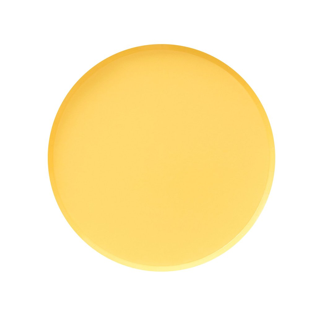 modern yellow plates with a delicate rim