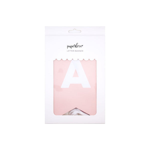 Pink Letter Banner in packaging