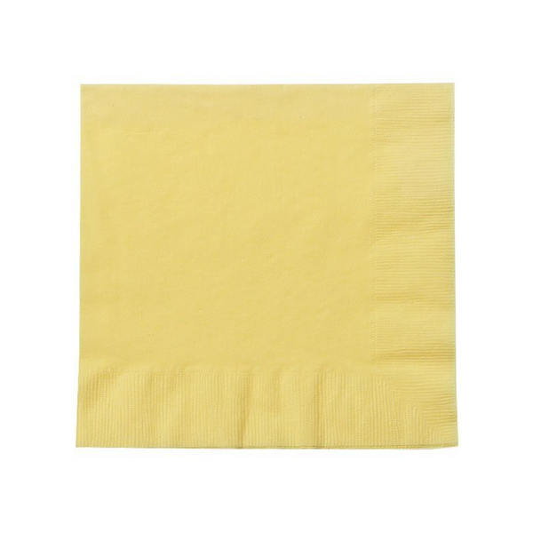 light yellow paper party napkins