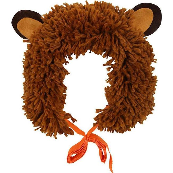 brown shaggy lion headdress