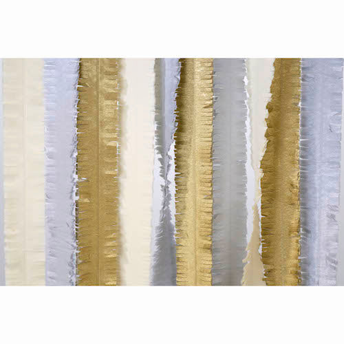 Gold, Silver and Cream Metallic Party Streamers