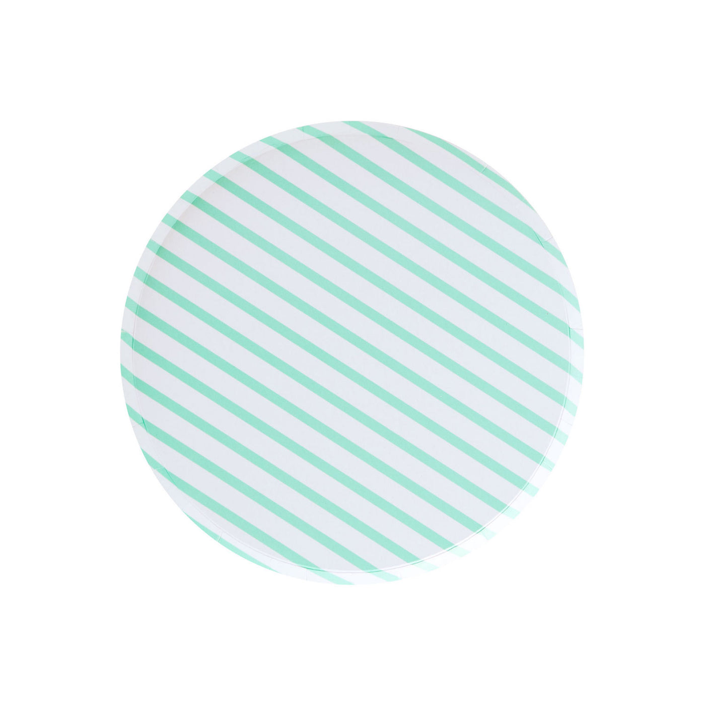 Mint Striped Party Plates - Witty Bash