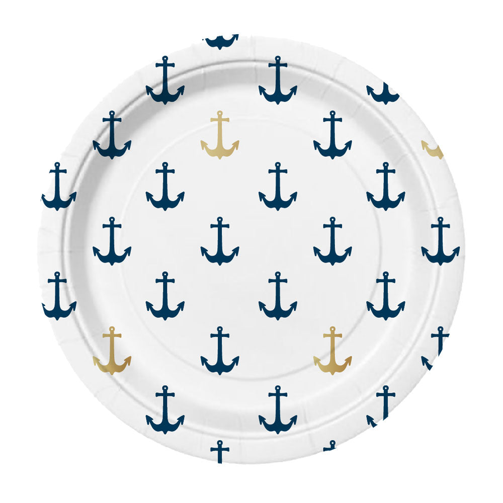 Nautical Party Plates - Witty Bash