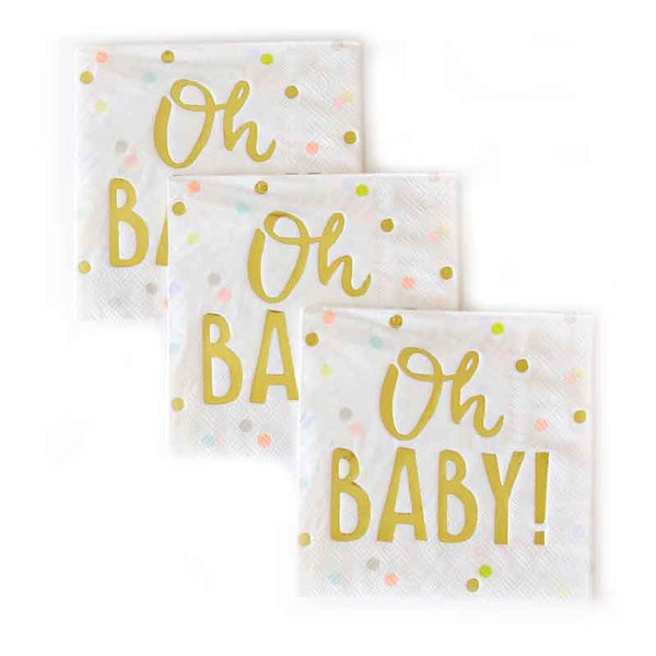 oh baby party napkins