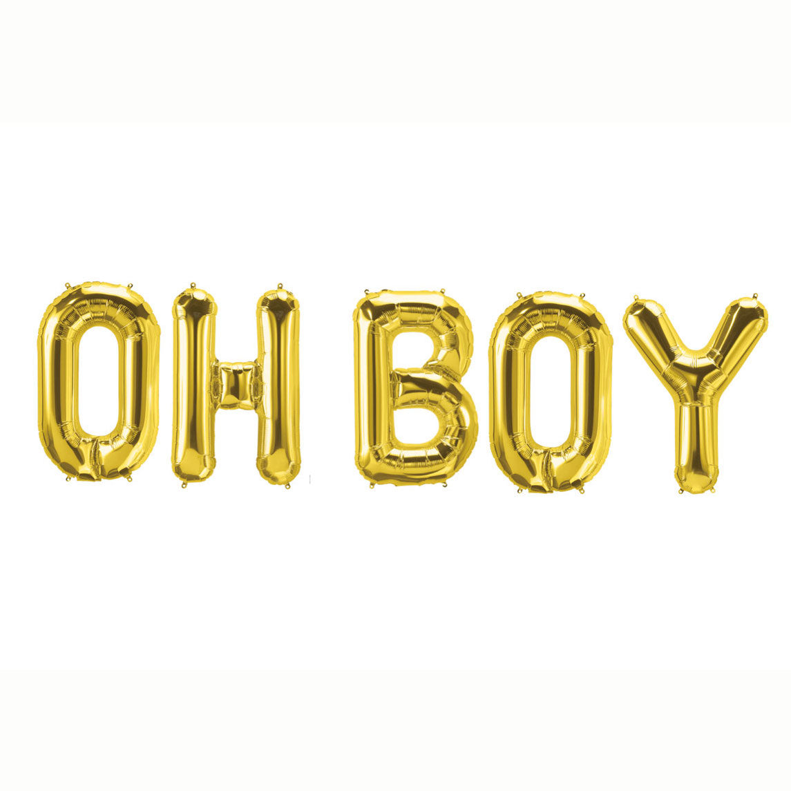 Gold Oh Boy Letter Balloons