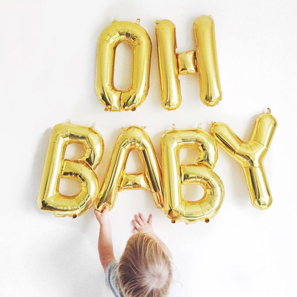 Oh Baby Letter Balloons - Witty Bash