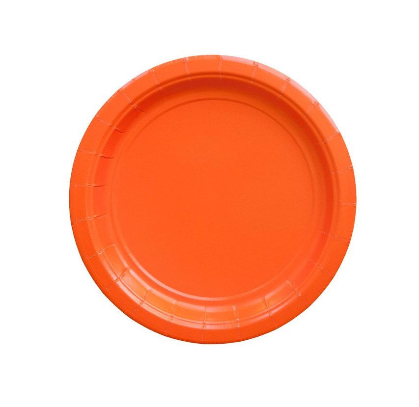 Solid Orange Party Plates