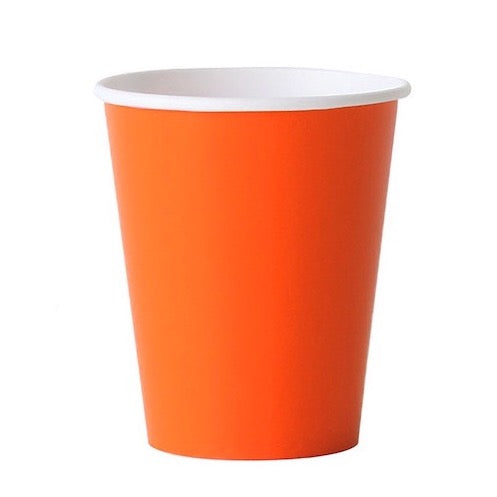 Solid Orange Party Cups