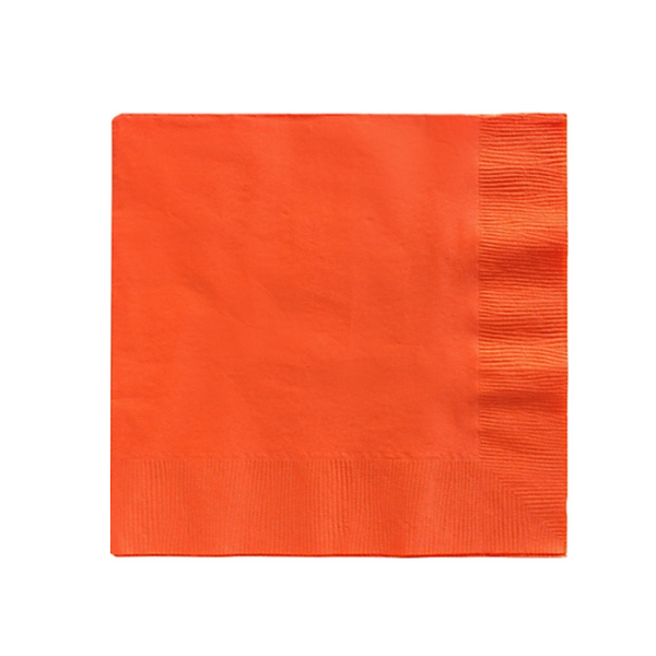 Solid Orange Party Napkins