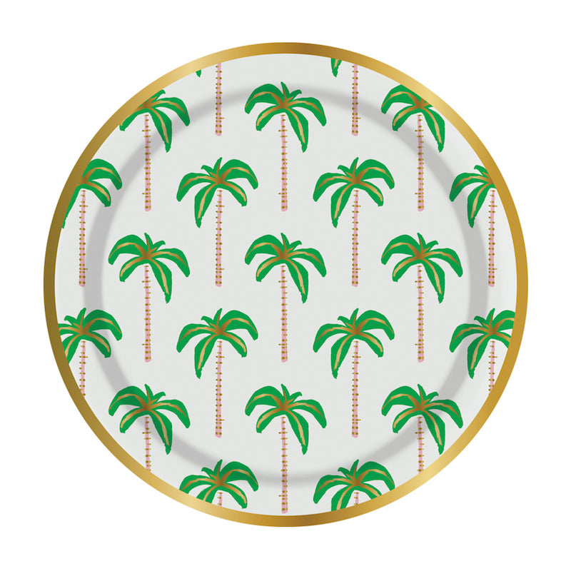 Palm Tree Party Plates - Witty Bash