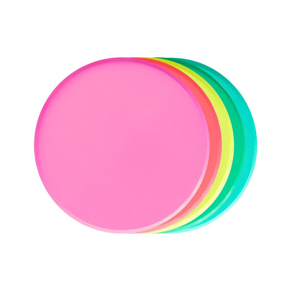 Rainbow Colored Plates