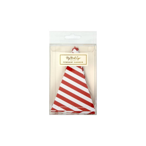 red and white striped party garland