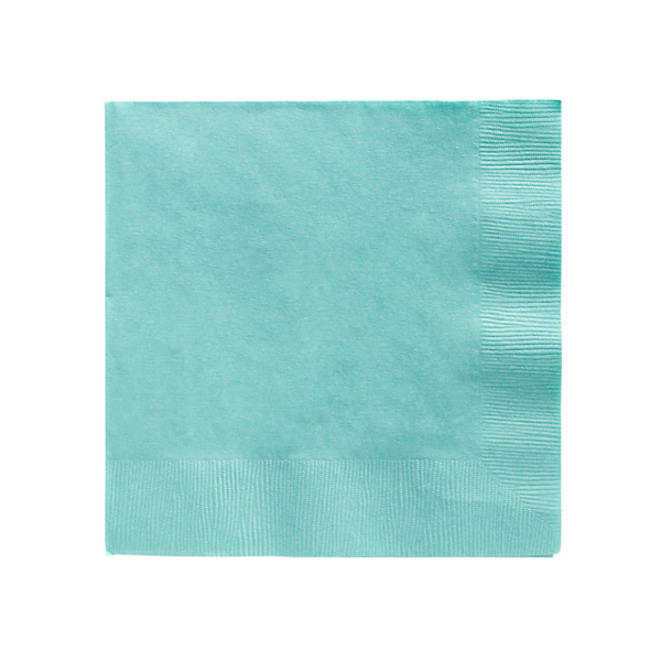 Robin's Egg Blue Napkins for Cocktails and Desserts